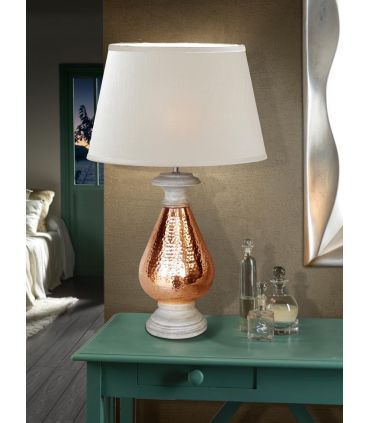 Lámpara de Sobremesa Étnica : Colección ISHARA Cobre