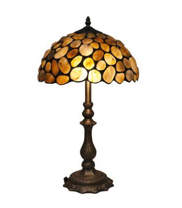 Lámpara para mesita de noche de Estilo Tiffany : Colección STONE