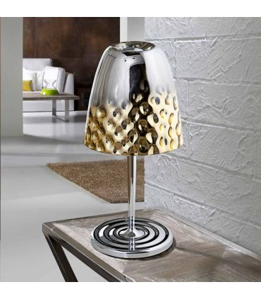 Lámpara de Sobremesa en Cristal Espejado : Modelo RIVIERA