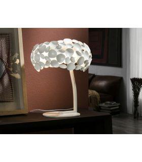 Comprar online Lámpara de Sobremesa de Metal Blanco : Colección NARISA Schuller