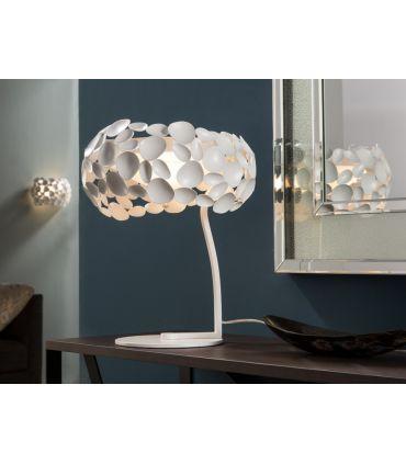 Lámpara de Sobremesa de Metal Blanco : Colección NARISA Schuller