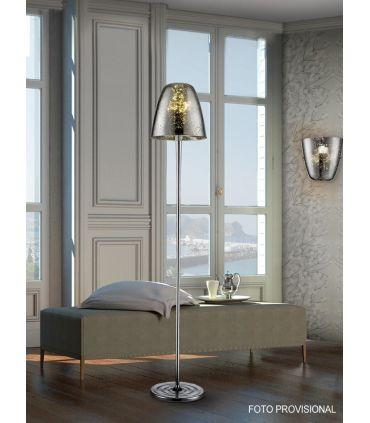 Pie de lámpara moderna en Cristal : Colección QUASAR cromo