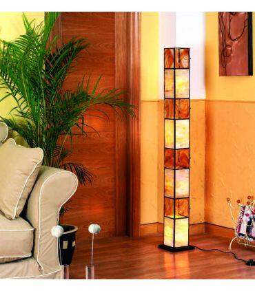 Lámparas Pie de Salón Artesanales : Modelo WADHISH Miel