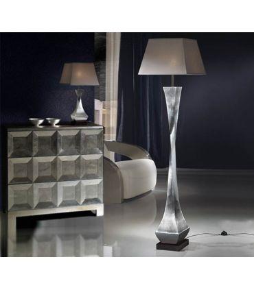 Lámparas PIE Moderna en madera : Colección DECO pan de plata.