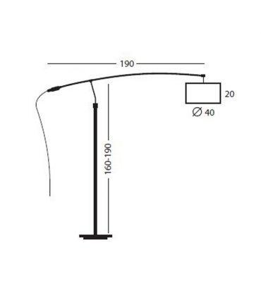 Lámparas PIE de Salón: Modelo ARCO LC