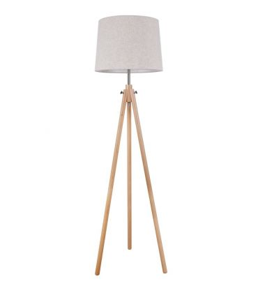 Lámpara de Suelo de Madera con Pantalla : Colección CALVIN