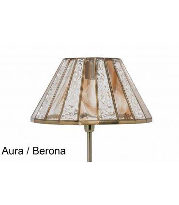Lámparas de Pie con Tulipa de Cristal : Modelo MERCIA aura