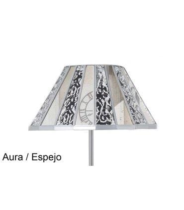 Lámparas de Pie Tulipa de Cristal : Modelo MERCIA espejo