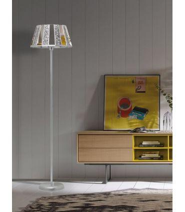 Lámparas de Pie Tulipa de Cristal : Modelo TRIPOLI aura/espejo