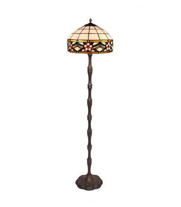 Lámpara de Pie de Estilo Tiffany : Colección MUSEUM (Pie Flor)