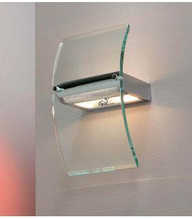 Comprar online Aplique Moderno de Cristal y Acero : Colección GLASS Schuller