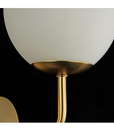 Aplique de Metal de 1 luz con tulipa de Vidrio : Colección ERICH