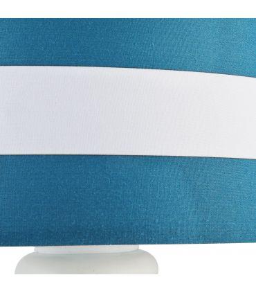 Aplique de Metal con Pantalla Rayas Azul y Blanco : Colección SAILOR