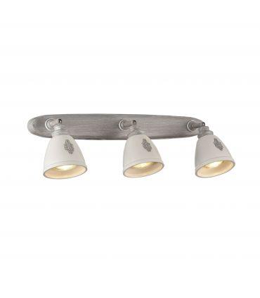 Aplique de 3 luces con Focos de Cerámica : Colección AGNES
