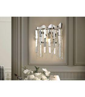 Comprar online Aplique de Metal y Cristal de Schuller de 2 luces : Modelo CHANTAL