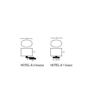 Apliques : Modelo HOTEL LC