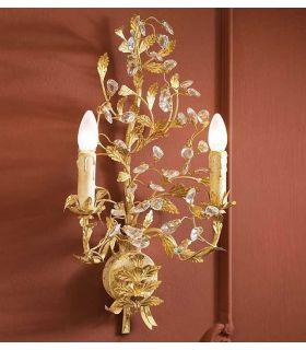 Apliques Florentinos : Colección VERDI Oro 2 luces