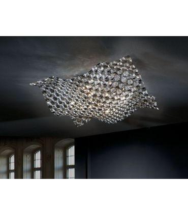 Plafones de Diseño Moderno : Colección SATEN 5 luces