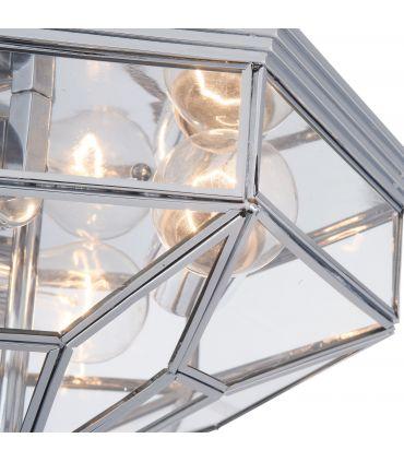 Plafón Clásico de Metal y Cristal : Colección ZEIL