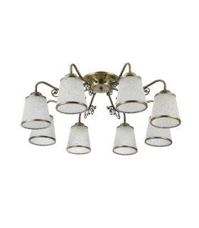 Comprar online Plafones de Estilo Clásico : Colección RING 8 luces