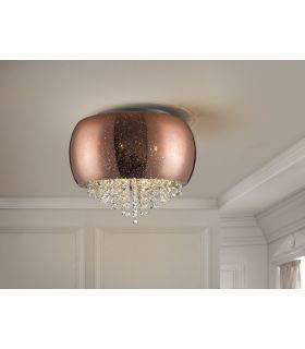 Comprar online Plafón de cristal Cobre 5 luces de Schuller Iluminación : Colección CAELUM