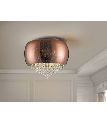 Plafón de cristal Cobre 5 luces de Schuller Iluminación : Colección CAELUM