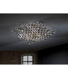 Plafones de Cristal : Colección SATEN 4 luces