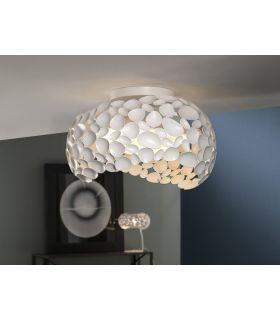 Comprar online Plafón 5 luces Acabado Blanco : Colección NARISA de Schuller