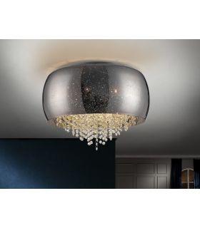 Comprar online Plafón de 6 luces Cristal Espejado Plata : Colección CAELUM Schuller