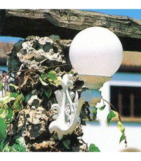 Farol con brazo de fundición Aluminio Mod. GLOBOS