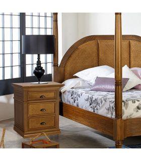 Comprar online Mesita de noche en madera natural de Mahogany : Colección ALAMANDA
