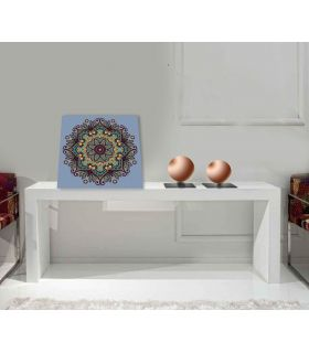 Mandalas Cuadradas de Cristal : Modelo FLORAL