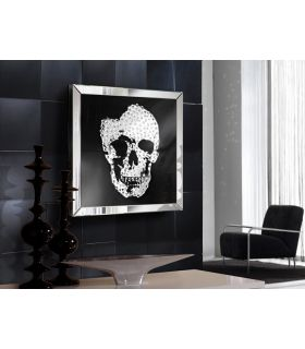 Comprar online Cuadro Decorativo con marco de espejo : Modelo SKULL