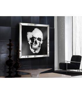 Cuadro Decorativo con marco de espejo : Modelo SKULL