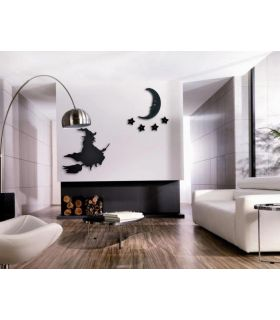 Comprar online Figura metálica de pared Mod. BRUJA-LUNA-ESTRELLA