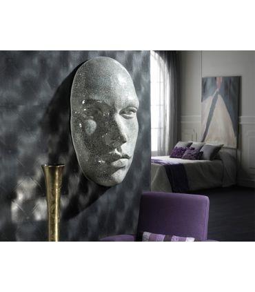 Mural decorativo con lunas de espejo : Modelo FAZ plata