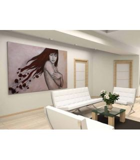 Comprar online Pintura Original sobre lienzo GIRL ALONE