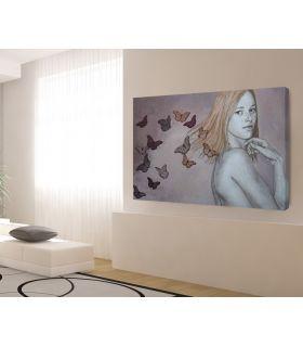 Comprar online Pintura Original sobre lienzo GIRL BUTTERFLY