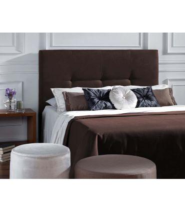 Cabeceros Tapizados PARIS Marrón para colchón de 135cms.