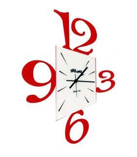 Reloj de pared modelo PROSPETTIVA Rojo