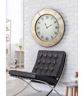 Comprar online Reloj Redondo con lunas de Espejo : AURORA Oro