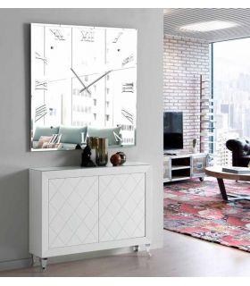 Reloj Espejo Decorativo : Modelo MURANO Cuadrado
