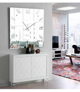 Comprar online Reloj Espejo Decorativo : Modelo MURANO Cuadrado