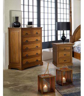 Comprar online Chifonier en madera natural de Mahogany : Colección ALAMANDA