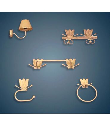 Conjunto accesorios cuarto de baño Mod. TULIPAN