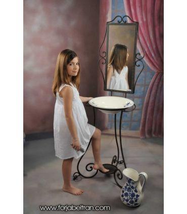 Palanganero de forja con espejo Modelo AFRICA