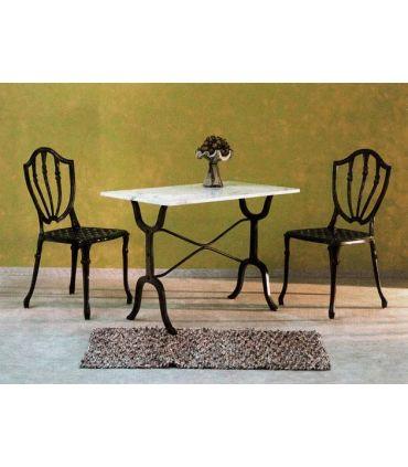 Pie mesa fundicion Aluminio Mod. MILAN rectangular.