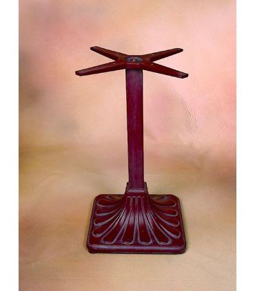 Pie mesa de fundición Aluminio Mod. PALMERA cuadrada.