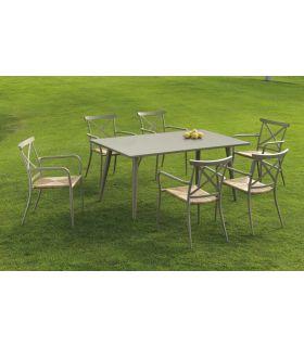 Mesa de Terraza y Jardín de Aluminio : Colección ALGARVE
