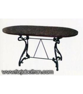 Pie mesa de fundición Aluminio Mod. ARTNOVO rectangular.